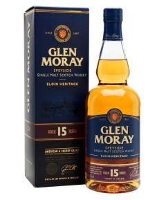 Glen Moray Elgin Heritage 15 Year Old Single Malt Scotch Whisky 70cl