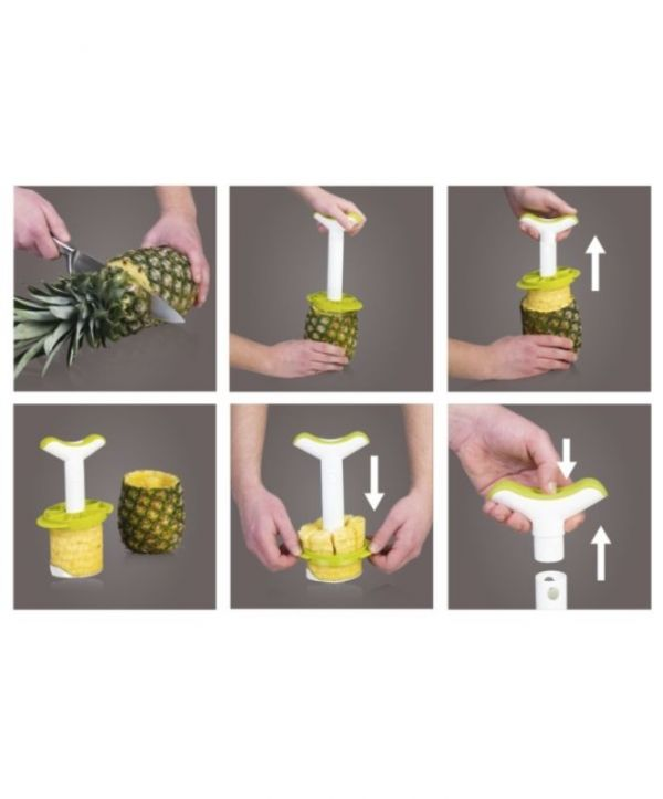 Vacuvin Pineaple Slicer with Green Wedger